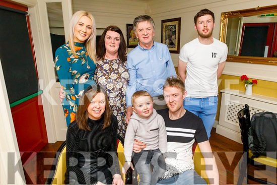Double birthday celebrations from sister and brother Fiona and Francis Herlihy from Camp in the Brogue Inn on Saturday.<br /> Seated l to r: Fiona, Rian and Francis Herlihy.<br /> Back l to r: Sharon Sheehan, Hannah, Frank and Fintan Herlihy.