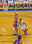 22 November 2015: Yeshiva University Maccabee Forward Dean Pienica, a Junior from Tel Aviv, Israel, drives to the basket during second half play against the Hunter College Hawks at the Max Stern Athletic Center  in New York, NY. The Maccabees defeated the Hawks 81-71 in non-conference play, for their second win of the season. Mandatory Credit: Ed Wolfstein Photo *** RAW (NEF) Image File Available ***