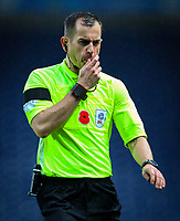 Referee Peter Bankes<br /> <br /> Photographer Alex Dodd/CameraSport<br /> <br /> The EFL Sky Bet Championship - Blackburn Rovers v Queens Park Rangers - Saturday 3rd November 2018 - Ewood Park - Blackburn<br /> <br /> World Copyright © 2018 CameraSport. All rights reserved. 43 Linden Ave. Countesthorpe. Leicester. England. LE8 5PG - Tel: +44 (0) 116 277 4147 - admin@camerasport.com - www.camerasport.com