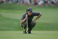 Hunter Mahan on the 4th green in Saturday foursomes at the 37th Ryder Cup at Valhalla Golf Club, Louisville, Kentucky, USA - 20th September 2008 (Photo by Manus O'Reilly/GOLFFILE)