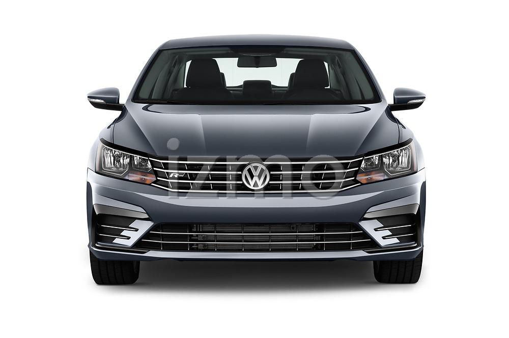 Car photography straight front view of a 2017 Volkswagen Passat R-Line 4 Door Sedan