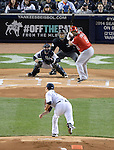Masahiro Tanaka (Yankees),<br /> APRIL 27, 2014 - MLB :<br /> Masahiro Tanaka of the New York Yankees pitches to Albert Pujols of the Los Angeles Angels in the first inning during the Major League Baseball game at Yankee Stadium in Bronx, New York, United States. (Photo by AFLO)