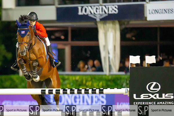 2nd Place Team Team. Lucy Deslauriers. USA, Riding Hester. Challenge Cup. Longines FEI Jumping Nations Cup Final. Showjumping. Barcelona. Spain. Day 2.06/10/2018. ~ MANDATORY Credit Elli Birch/Sportinpictures - NO UNAUTHORISED USE - 07837 394578