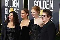 America Ferrera, Natalie Portman, Emma Stone & Billie Jean King at the 75th Annual Golden Globe Awards at the Beverly Hilton Hotel, Beverly Hills, USA 07 Jan. 2018<br /> Picture: Paul Smith/Featureflash/SilverHub 0208 004 5359 sales@silverhubmedia.com