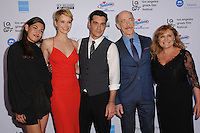 "05 June 2016 - Hollywood, California - Niki Vakali, Andrea Osvart, Christopher Pakaliatis, J.K. Simmons, Maria Kavoyianni. Arrivals for the 2016 LA Greek Film Festival Premiere Of ""Worlds Apart"" held at The Egyptian Theater. Photo Credit: Birdie Thompson/AdMedia"