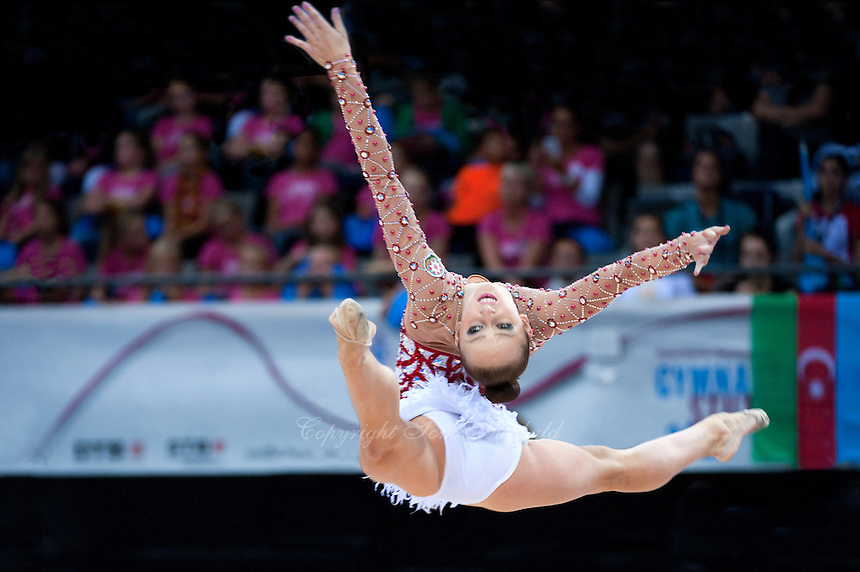 September 11, 2015 - Stuttgart, Germany - MARINA DURUNDA of Azerbaijan performs during AA final at 2015 World Championships.