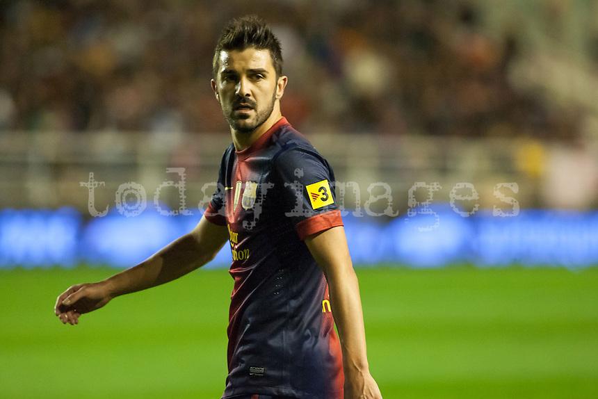 David Villa  during the League match: Rayo Vallecano vs Bar?ßa