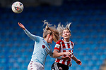 Maddy Cusack of Sheffield United heads the ball during the The FA Women's Championship match at the Proact Stadium, Chesterfield. Picture date: 12th January 2020. Picture credit should read: James Wilson/Sportimage