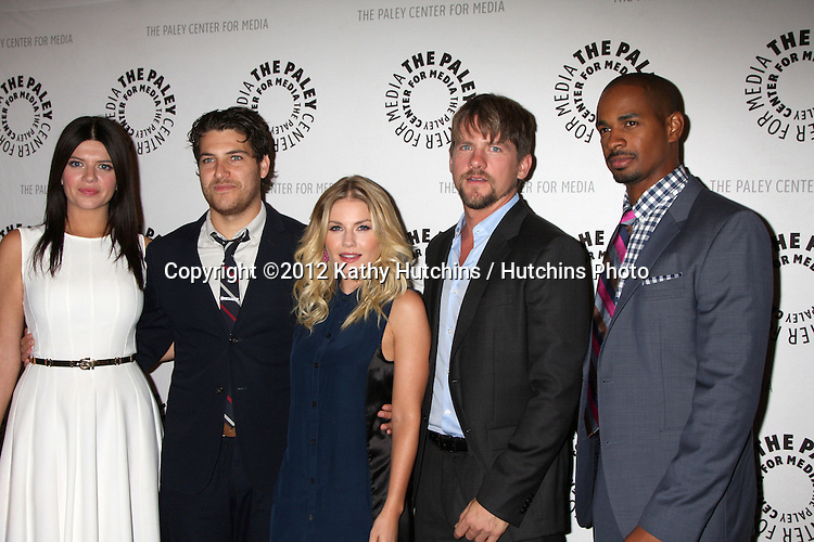 "LOS ANGELES - OCT 16:  Casey Wilson, Adam Pally, Elisha Cuthbert, Zachary Knighton and Damon Wayans Jr arrives at  An Evening With ""Happy Endings"" And ""Don't Trust The B---- In Apartment 23"" at Paley Center For Media on October 16, 2012 in Beverly Hills, CA"