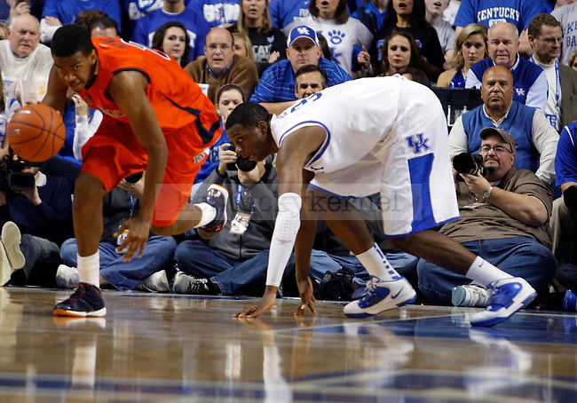 Terrence Jones chases after the ball in the second half of UK's win over the Auburn Tigers at Rupp Arena on Jan. 11, 2011. Photo by Britney McIntosh | Staff
