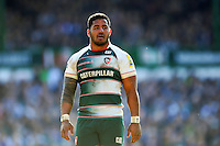 Manu Tuilagi of Leicester Tigers looks on. Aviva Premiership match, between Leicester Tigers and Gloucester Rugby on April 2, 2016 at Welford Road in Leicester, England. Photo by: Patrick Khachfe / JMP