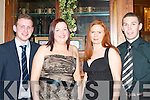 SOCIAL: Enjoying the St Pat's Hurling Club social at Killarney Heights Hotel on Friday night were l-r: Pat Clifford, Killarney, Mairead Horan, Castleisland, Karen and Kevin Smith, Killarney.   Copyright Kerry's Eye 2008