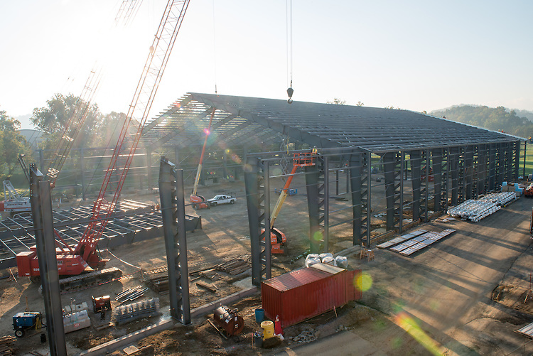 Construction of the Walter Field House. Photo by Ben Siegel
