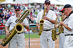6 March 2012: The Walt Disney World Philharmonic Saxophone Quartet entertain the fans during a Spring Training game against the Washington Nationals at Champion Park in Disney's Wide World of Sports Complex, Orlando, Florida. The Nationals defeated the Braves 5-2 in Grapefruit League action. Mandatory Credit: Ed Wolfstein Photo