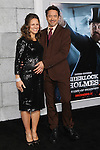 "SUSAN DOWNEY, ROBERT DOWNEY JR. Los Angeles Premiere of Warner Brothers Pictures' ""Sherlock Holmes: A Game of Shadows,"" at the Regency Village Theatre in Westwood. Los Angeles, CA USA. December 6, 2011.©CelphImage"