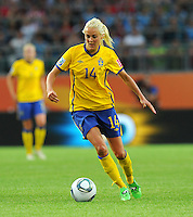 Josefine Oqvist of team Sweden during the FIFA Women's World Cup at the FIFA Stadium in Wolfsburg, Germany on July 6thd, 2011.