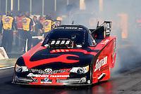 May 16, 2014; Commerce, GA, USA; NHRA funny car driver Cruz Pedregon during qualifying for the Southern Nationals at Atlanta Dragway. Mandatory Credit: Mark J. Rebilas-USA TODAY Sports