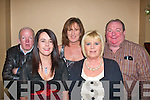 5864-5867.---------.Social.------.Enjoying the Tralee branch of the Kerry Mental Health Association(KMHA)annual Christmas social in the AbbeyGate Hotel Main St Tralee last Thursday Dec 3rd were L-R Auther Spring,Geraldine Hanafin,Kay Tobin,Katty Mullins and Gerard Donnelly.