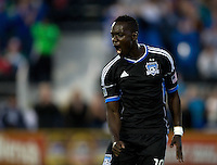 Simon Dawkins of Earthquakes celebrates after scoring a goal during the game against Rapids at Buck Shaw Stadium in Santa Clara, California on August 25th, 2012.   San Jose Earthquakes defeated Colorado Rapids, 4-1.