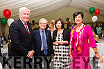 Pictured at the Cable Festival Gala Dinner in the Royal Hotel, Valentia on Thursday were l-r; Canadian Ambassador to Ireland Kevin Vickers, Sir Adrian FitzGerald 24th Knight of Kerry, Moira Murrell Chief Executive of Kerry County Council & Joan McCarthy Head of Tourism Development, KCC.
