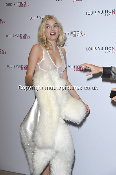 NON EXCLUSIVE PICTURE: MATRIXPICTURES.CO.UK<br /> PLEASE CREDIT ALL USES<br /> <br /> WORLD RIGHTS<br /> <br /> British model Lily Donaldson attending the Louis Vuitton Series 3 Exhibition launch party, in London. <br /> <br /> SEPTEMBER 20th 2015<br /> <br /> REF: SLI 152927