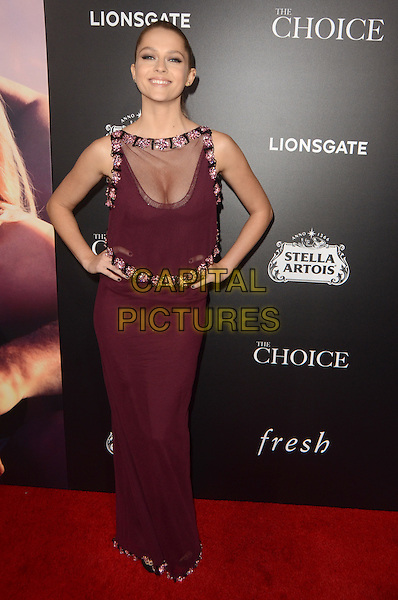 HOLLYWOOD, CA - FEBRUARY 1: Teresa Palmer at the premiere of Lionsgate's 'The Choice' at ArcLight Cinemas on February 1, 2016 in Hollywood, California. <br /> CAP/MPI/DE<br /> &copy;DE//MPI/Capital Pictures