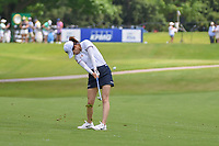 Yu Liu (CHN) hits her approach shot on 10 during round 1 of the 2018 KPMG Women's PGA Championship, Kemper Lakes Golf Club, at Kildeer, Illinois, USA. 6/28/2018.<br /> Picture: Golffile | Ken Murray<br /> <br /> All photo usage must carry mandatory copyright credit (&copy; Golffile | Ken Murray)