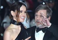 "Daisy Ridley and Mark Hamill<br /> arriving for the ""Star Wars: The Last Jedi"" film premiere at the Royal Albert Hall, London.<br /> <br /> <br /> ©Ash Knotek  D3363  12/12/2017"