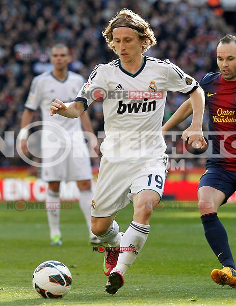 Real Madrid's Luca Modric during La Liga match.March 02,2013. (ALTERPHOTOS/Acero) /NortePhoto