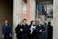 Roma, 14 Marzo 2017<br /> Il ministro della Giustizia e candidato a segretario del Partito Democratico Andrea Orlando esce da un Bar di Piazza Colonna