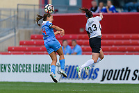 Bridgeview, IL - Sunday June 25, 2017: Danielle Colaprico, Erin Simon during a regular season National Women's Soccer League (NWSL) match between the Chicago Red Stars and Sky Blue FC at Toyota Park. The Red Stars won 2-1.