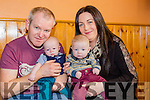 Marie and Paul Geaney Castleisland with their twins and the large crowd that attended their coffee morning for premature babies in Cordal Community Centre on Saturday morning