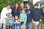 0066-0070..Let it Rain - Enjoying the wet weather at the Barbeque held in aid of The RNLI and Churchill Ladies Football at Fenit Strand on Sunday were front l/r Oisin Maunsell, Darragh Gurney and Sadbh Griffin, back l/r Kathy Maunsell, Clare Gurney, Maggie, Fionn & Fiachra Griffin..............................   Copyright Kerry's Eye 2008