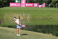 Su Oh (AUS) chips into the 5th green during Thursday's Round 1 of The Evian Championship 2018, held at the Evian Resort Golf Club, Evian-les-Bains, France. 13th September 2018.<br /> Picture: Eoin Clarke | Golffile<br /> <br /> <br /> All photos usage must carry mandatory copyright credit (&copy; Golffile | Eoin Clarke)