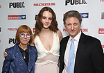 """Jane Anderson, Grace Van Patten and Matthew Penn attend the Opening Night Celebration for """"Mother of the Maid"""" on October 18, 2018 at the Public Theatre in New York City."""