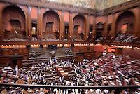 Roma, 31 Gennaio 2015<br /> Camera dei Deputati.<br /> Alla quarta votazione viene eletto Sergio Mattarella a Presidente della Repubblica. <br /> Panoramica dell'Aula