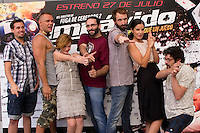 24.07.2012. Presentation at the Madrid Film Academy of the movie 'Impavido&acute;, directed by Carlos Theron and starring by Marta Torne, Selu Nieto, Nacho Vidal, Carolina Bona, Julian Villagran and Manolo Solo. In the image Selu Nieto, Nacho Vidal, Carolina Bona, Carlos Theron, Julian Villagran, Marta Torne and Manolo Solo (Alterphotos/Marta Gonzalez) /NortePhoto.com*<br />