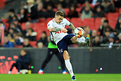 7th January 2018, Wembley Stadium, London, England;  FA Cup football, 3rd round, Tottenham Hotspur versus AFC Wimbledon; Kieran Trippier of Tottenham Hotspur clears the ball along the line