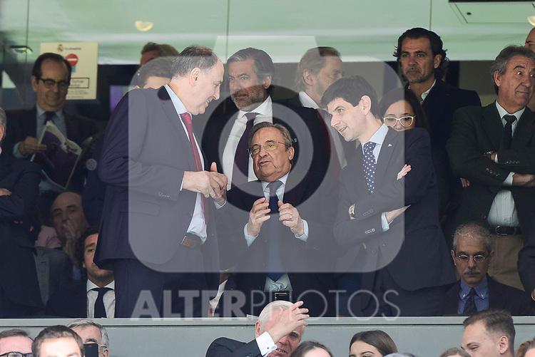 Real Madrid's president Florentino Perez during La Liga match between Real Madrid and Deportivo Alaves at Stadium Santiago Bernabeu in Madrid, Spain. April 02, 2017. (ALTERPHOTOS/BorjaB.Hojas)