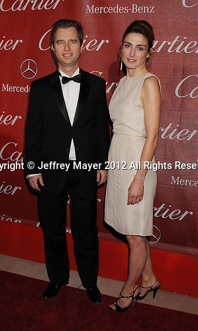 PALM SPRINGS, CA - JANUARY 07: David Martinon and Julie Gayet arrive at the 2012 Palm Springs Film Festival Awards Gala at the Palm Springs Convention Center on January 7, 2012 in Palm Springs, California.