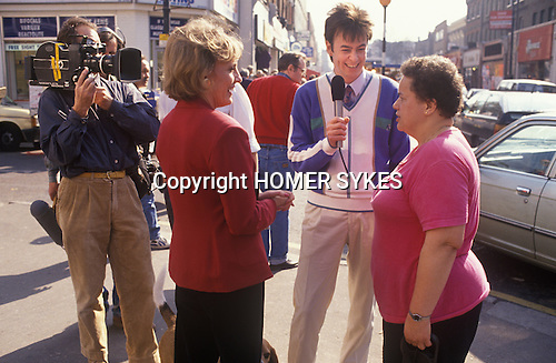 Kevine Devine 1991 presenter on the TV programme Thats Life with Esther Rantzen London Uk