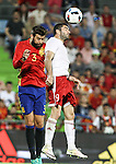 Spain's Gererd Pique and Georgia's Dvalishvili during the up match between Spain and Georgia before the Uefa Euro 2016.  Jun 07,2016. (ALTERPHOTOS/Rodrigo Jimenez)