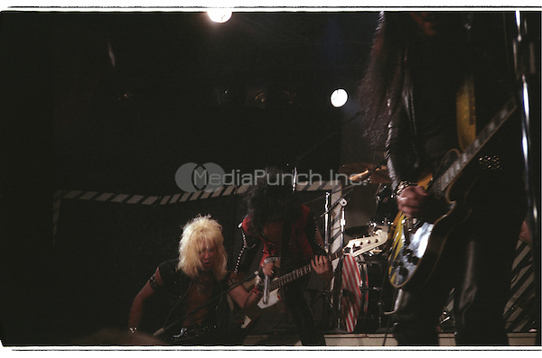 MOTLEY CRUE performing live at The Whisky A-Go_Go in Hollywood, CA USA on February 12, 1982.  Photo © Kevin Estrada / Media Punch