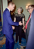 30 October 2017 - Prince William Duke of Cambridge, Theresa May and husband Philip at the Pride Of Britain Awards 2017 at The Grosvenor House Hotel London. Photo Credit: ALPR/AdMedia