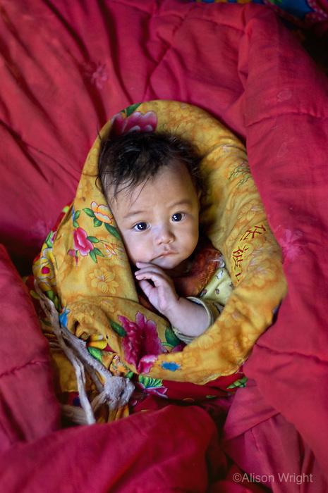Tibetan baby, Lunang Valley, Eastern Tibet, 2004