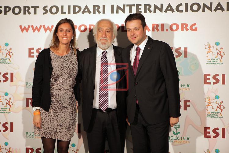 XIe Sopar Solidari d'ESI (Esport Solidari Internacional).<br /> Josep Maldonado, Gerard Figueres &amp; Sra.