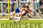 Dara Crowley Kenmare in action against Eoin Lawlor Rathmore in the Senior County Football Semi Final in Fitzgerald Stadium on Sunday.