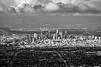 Aerial, Los Angeles; CA; Cityscape; L.A. Skyline; beautiful; View;  No people; Calif. California
