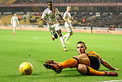 3rd November 2017, Molineux, Wolverhampton, England; EFL Championship football, Wolverhampton Wanderers versus Fulham; Léo Bonatini of Wolverhampton Wanderers keeps the ball in play