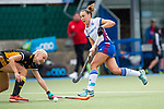 Mannheim, Germany, September 07: During the field hockey Bundesliga match between Mannheimer HC and Harvestehuder THC on September 7, 2019 at Am Neckarkanal in Mannheim, Germany. Final score 2-0. (Photo by Dirk Markgraf / www.265-images.com) *** Florencia Habif #18 of Mannheimer HC